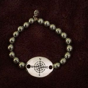 T. Jazelle Hematite Compass Bracelet!
